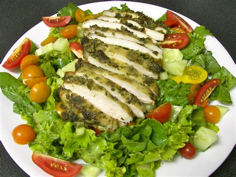 pesto salad leftover chicken pesto salad recipe dishmaps