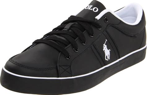 polo sneakers mens polo ralph mens bolingbrook sneaker in black for