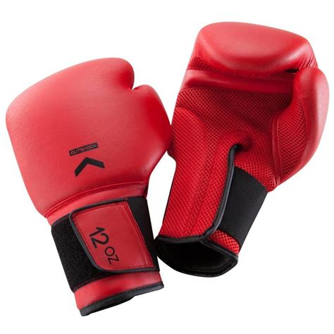 100 Boxing Gloves Red Decathlon Boxing Gloves