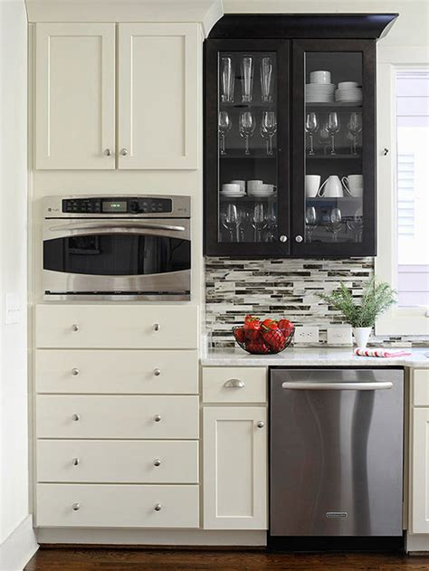 bear glass kitchen cabinet glass adds the wow factor to low cost cabinet makeovers save money by painting your