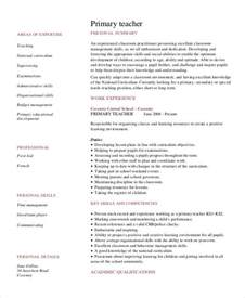 Sle Resume Templates Word Document by Resume For Primary Teaching 28 Images Basic Resumes 29