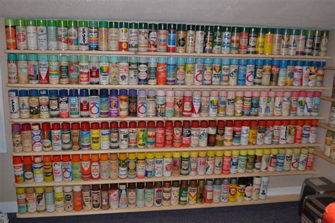 my collectiom for you a few ideas about popular flowers new shelves for my spray paint can collection collectors