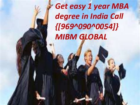 How Is Mba Program In India by Contact 9690900054 1 Year Mba Degree In India Mibm