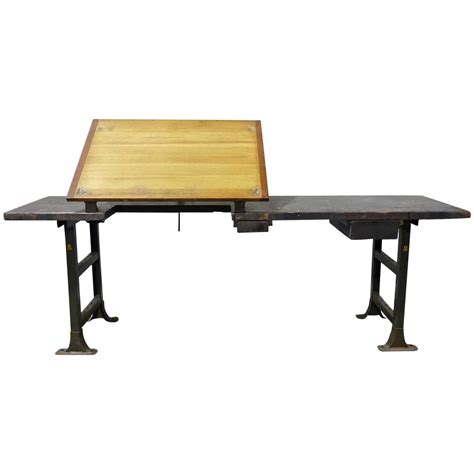 industrial drafting table industrial drafting table work station at 1stdibs