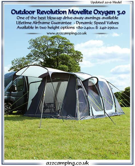 blow up drive away awnings movelite oxygen 3 0 drive away free standing inflatable
