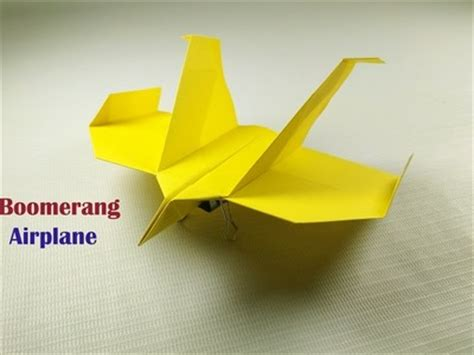 Origami Boomerang Plane - origami boomerang plane 28 images return back flying
