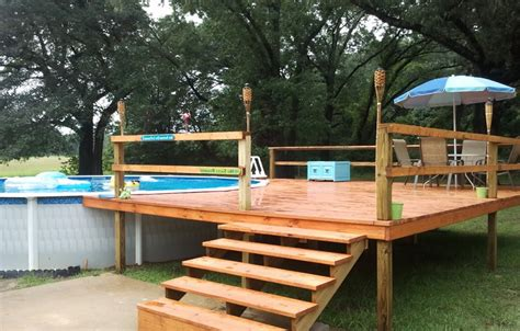 above ground pool with deck nj landscaping gardening ideas