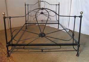 antique brass bed black wrought iron and brass bed 5ft double bed antiques atlas