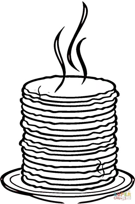 coloring pages of pan cake loads of pancakes coloring page free printable coloring
