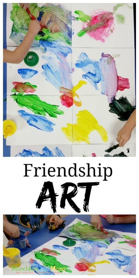 themes around love friendship art munchkins and moms