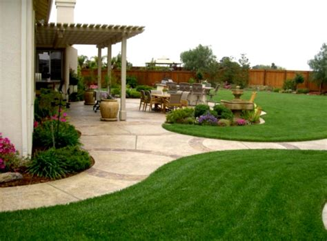 Backyard Themes by Simple Backyard Ideas Landscaping Cheap Homelk