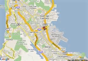 map of regency inn and suites san francisco san bruno