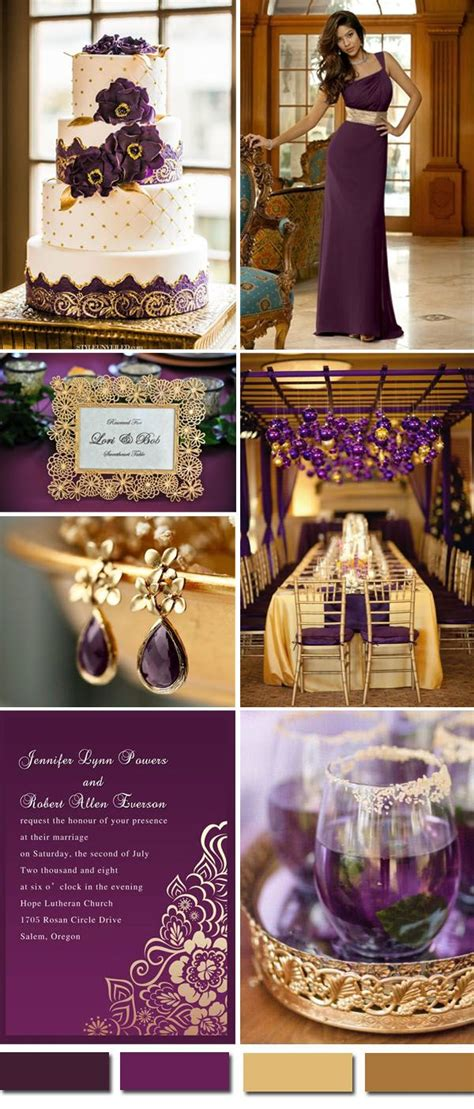 Purple And Gold Decorations by 110 Best Images About Purple Wedding Colors On