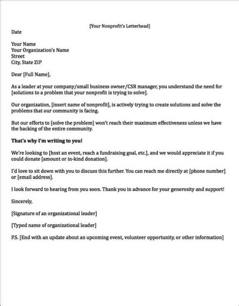 Letter For Corporate Sponsorship Sponsorship Letters Auction Item Request Letter Sles Of Non Profit Fundraising Letters