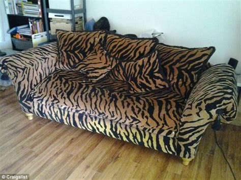 animal print couch craigslist user markets tiger print baby making couch