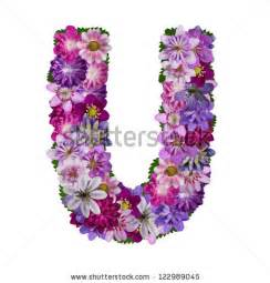 alphabet made of flower letter u stock photo 122989045