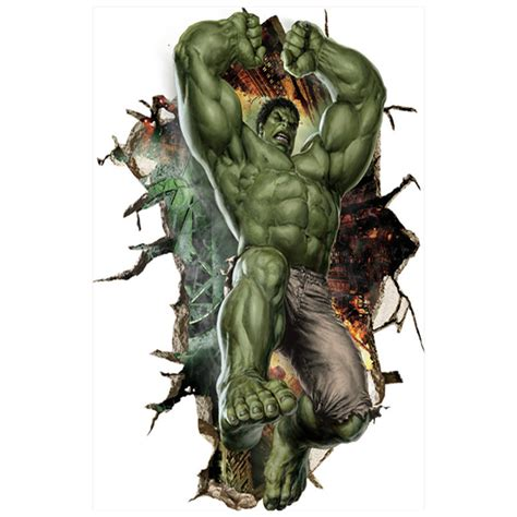 imagenes en 3d marvel the avengers marvel posters super heros hulk 3d broke wall