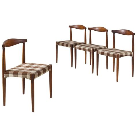 Rosewood Dining Room Furniture Set Of Four Dining Room Chairs In Rosewood For Sale At 1stdibs