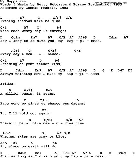 marshmello happier chords connie francis lyrics