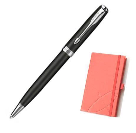 Sonnet Black Ballpoint Matte Black Ct Special Gift black matte sonnet ballpoint pen w notebook gift set at fahrneyspens