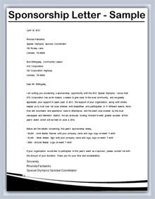 how to write a sponsorship letter sles