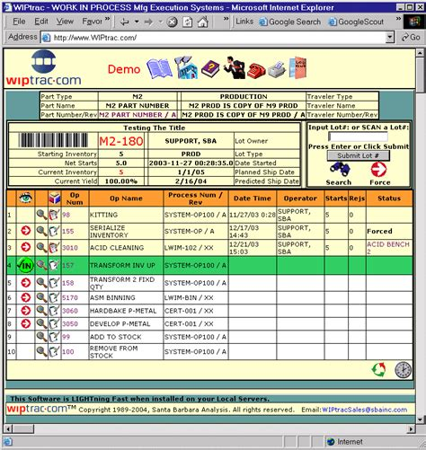 Semiconductor Manufacturing Execution Software Mes And Work In Process Wip Tracking Software For Manufacturing Traveler Template