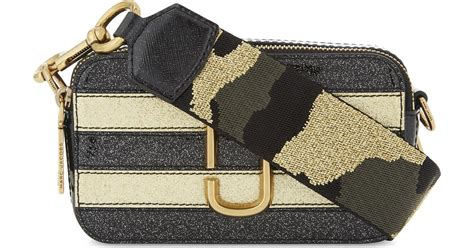 Marc Snapshot Stripe Glitter Gold Multi lyst marc snapshot glitter stripe leather