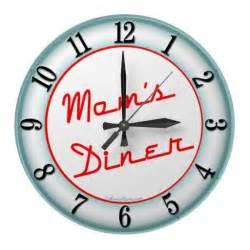 diner retro kitchen wall clock home