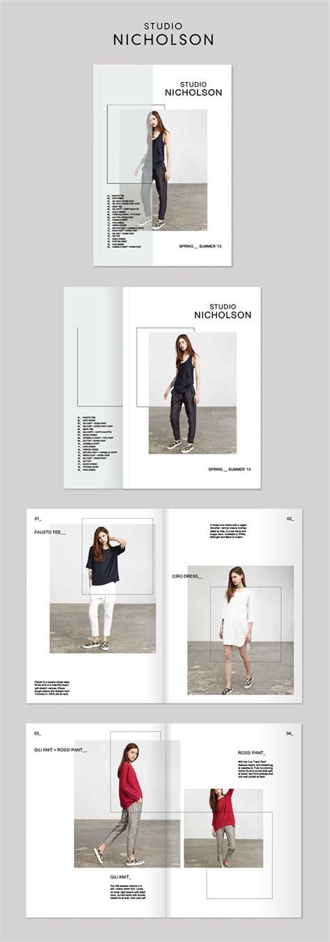 book layout behance studio nicholson lookbook on behance