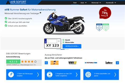Motorrad Evb Online by Jetzt Sparen Motorradversicherung Von Testsiegern Evb