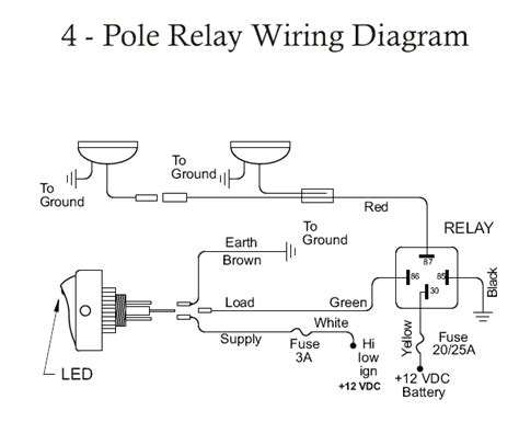 12v rocker switch fog light wiring diagram 12v get free