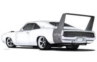Dodge Charger Drawing 1969 Dodge Charger Daytona Drawing By Vertualissimo On