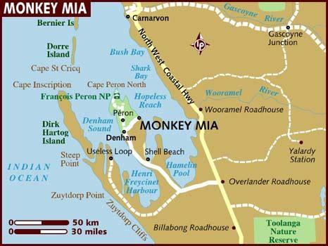 map of monkey mia
