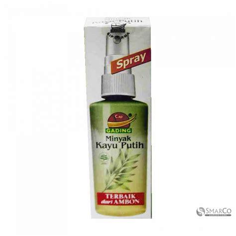 Minyak Kayu Putih Cap Gajah 60 Ml detil produk cap gading minyak kayu putih spray 60 ml
