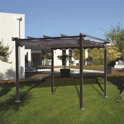 gazebo 2x2 malaga pergola 3x3 en aluminium achat vente tonnelle