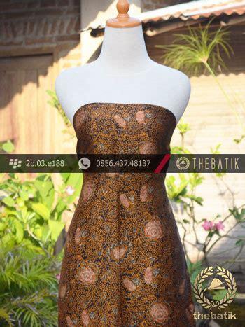 Batik Soga Genes Coklat Kilap jual kain batik sutera motif coletan soga genes thebatik