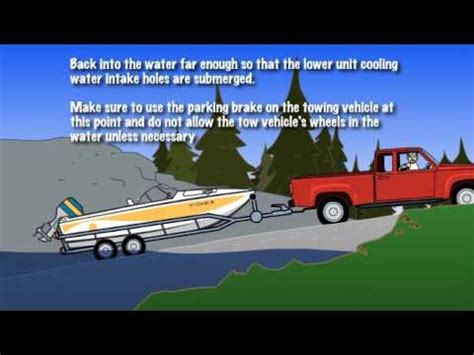 how to launch a boat launching a boat 3 5 5 youtube