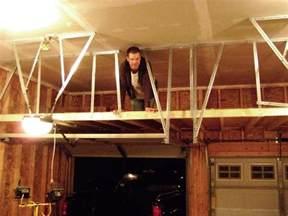 how to build a garage loft build garage storage loft