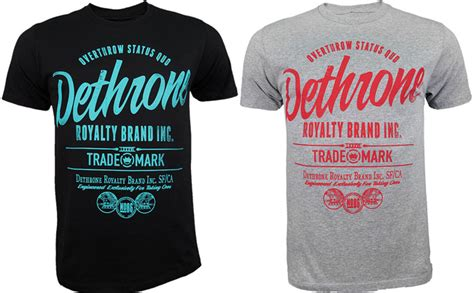 Tshirt Brand dethrone brand inc t shirt fighterxfashion