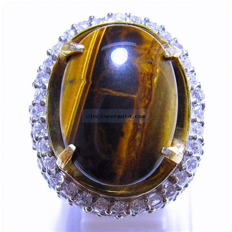Cincin Akik Tiger Eye A batu cincin tiger eye akik pilihan terbaik