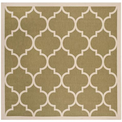 3 X 5 Outdoor Rug Safavieh Courtyard Green Beige 5 Ft 3 In X 5 Ft 3 In Indoor Outdoor Square Area Rug Cy6914