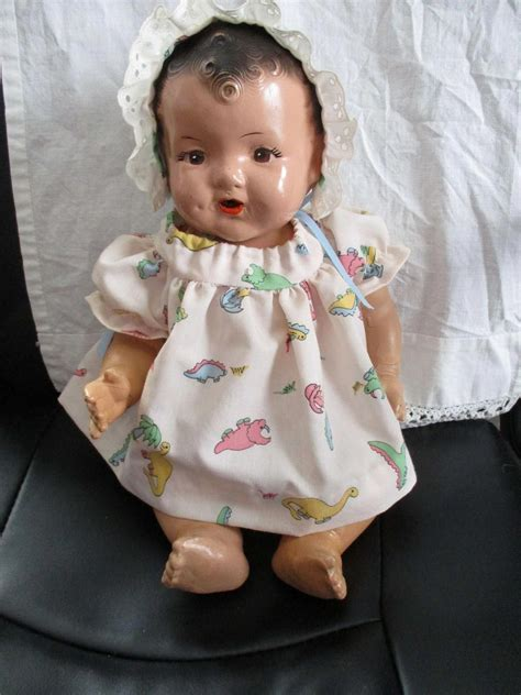 composition drink and doll antique composition baby doll that drinks and wets