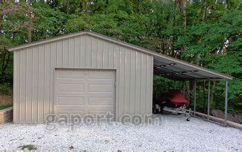 Single Garage With Awning by Metal Garages Steel Buildings Steel Garage Plans