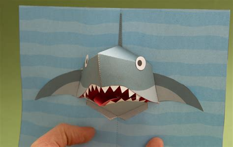 shark pop up card template shark attack rob ives