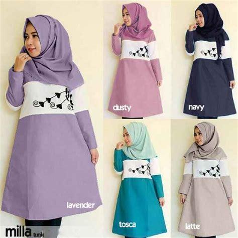 Tunik Jumbo Baju Tunik Jumbo Busana Muslimah Jumbo Ks5874 baju atasan milla tunik model busana remaja wanita modern