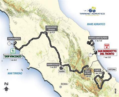 della driatico tirreno adriatico 2013 percorso e tappe sui pedali