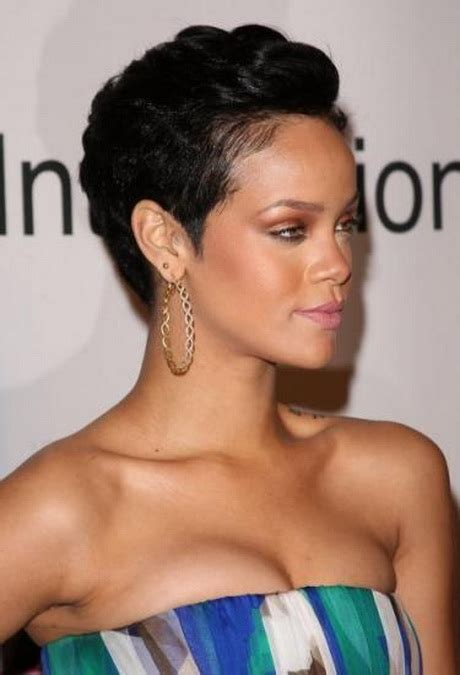 short weave hairstyles for rihanna and haille berry coiffure rihanna court