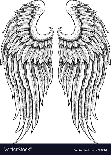tatoo stock images royalty free wings royalty free vector image