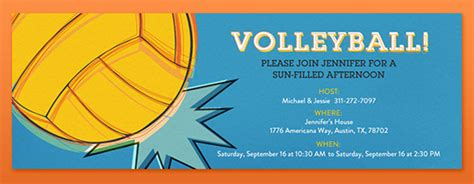 free printable volleyball invitations fantasy sports leagues online invitations evite com