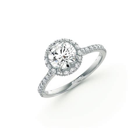 pave engagement rings pave set engagement ring in 14k white gold
